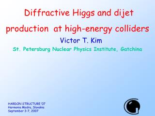Diffractive Higgs and dijet production  at high-energy colliders