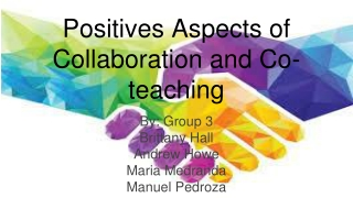 Principles of  Effective Collaboration   Co-Teaching