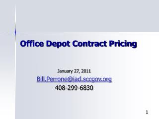 Office Depot Contract Pricing