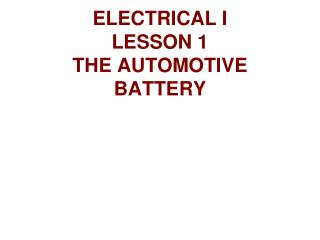 What is the purpose of the battery in a car?