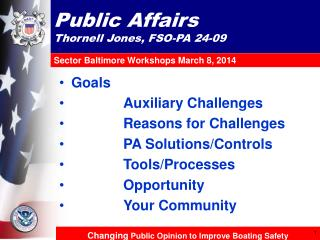 Public Affairs Thornell Jones, FSO-PA 24-09