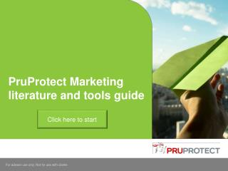 PruProtect Marketing literature and tools guide
