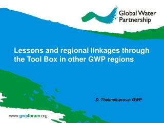 Lessons and regional linkages through the Tool Box in other GWP regions