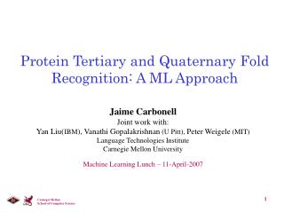 Protein Tertiary and Quaternary Fold Recognition: A ML Approach