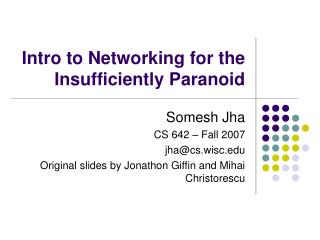 Intro to Networking for the Insufficiently Paranoid
