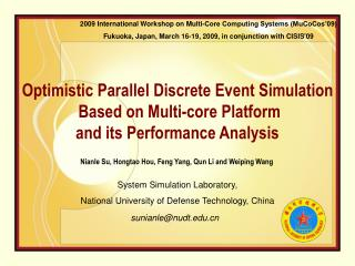 Optimistic Parallel Discrete Event Simulation  Based on Multi-core Platform  and its Performance Analysis