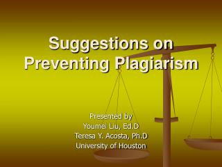 Suggestions on Preventing Plagiarism