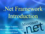 .Net Framework Introduction
