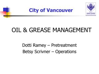 OIL & GREASE MANAGEMENT