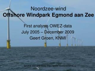 Noordzee-wind  Offshore Windpark Egmond aan Zee