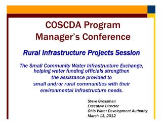 Rural Infrastructure Projects Session