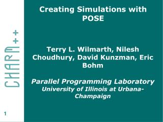 Creating Simulations with POSE