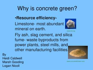 Why is concrete green?