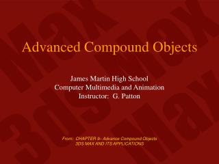 Advanced Compound Objects