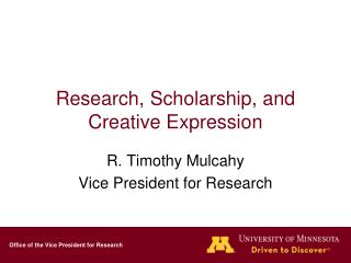 Research, Scholarship, and Creative Expression