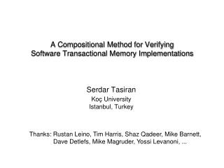 A Compositional Method for Verifying  Software Transactional Memory Implementations