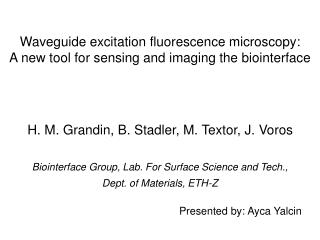 Waveguide excitation fluorescence microscopy:  A new tool for sensing and imaging the biointerface