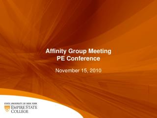 Affinity Group Meeting PE Conference