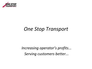 One Stop Transport