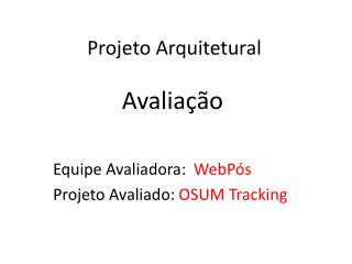 Projeto Arquitetural