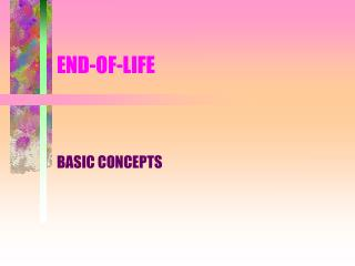 END-OF-LIFE
