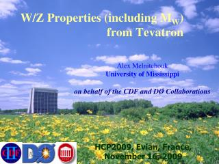 W/Z Properties (including M W ) 	  			              from Tevatron