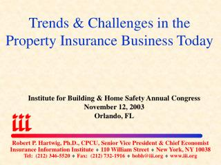 Trends & Challenges in the Property Insurance Business Today