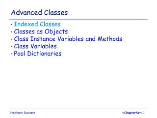 Advanced Classes
