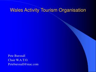 Wales Activity Tourism Organisation