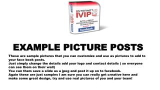 EXAMPLE PICTURE POSTS