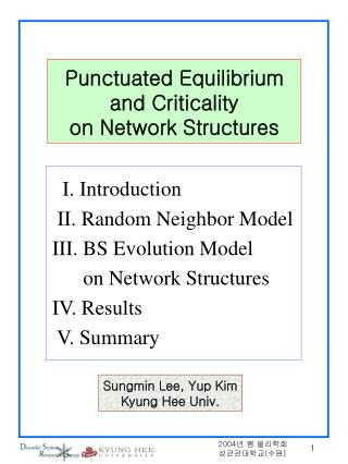 Punctuated Equilibrium and Criticality  on Network Structures