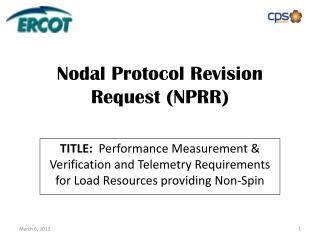 Nodal Protocol Revision Request (NPRR)