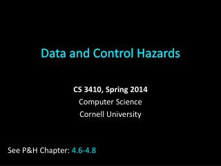 Data and Control Hazards