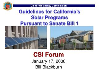 Guidelines for California's  Solar Programs  Pursuant to Senate Bill 1