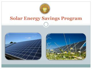 Solar Energy Savings Program