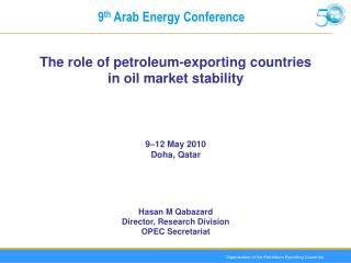 9 th  Arab Energy Conference