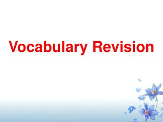 Vocabulary Revision