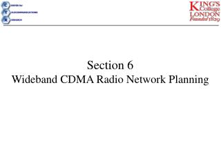 Section 6  Wideband CDMA Radio Network Planning