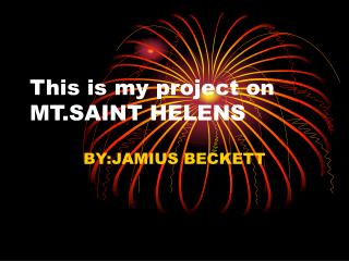This is my project on MT.SAINT HELENS