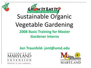 Sustainable Organic Vegetable Gardening