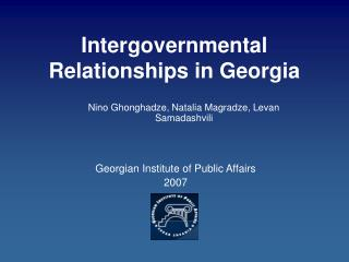 Intergovernmental Relationships in Georgia