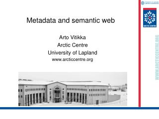 Metadata and semantic web