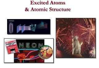 Excited Atoms & Atomic Structure