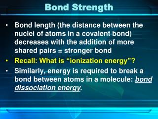 Bond Strength