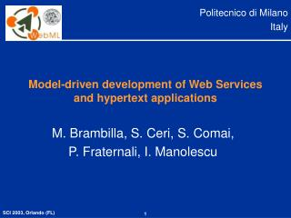Model-driven development of Web Services and hypertext applications