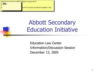 Abbott Secondary  Education Initiative
