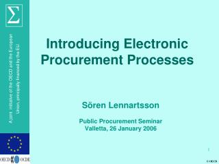 Introducing Electronic Procurement Processes