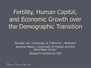 Fertility, Human Capital, and Economic Growth over the Demographic Transition