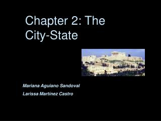 Chapter 2: The City-State