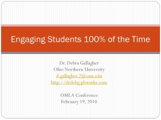 Engaging Students 100% of the Time